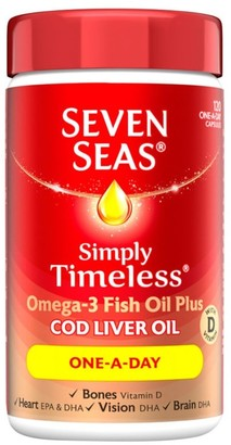 Seven Seas Simply Timeless Cod Liver Oil One-A-Day 120 Capsules