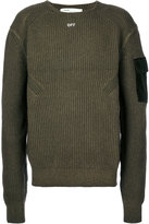 Off-White ribbed 'Off' Sweater - men - Cotton/Wool - S