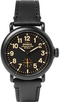 Shinola The Runwell 36mm Pvd-plated And Leather Watch