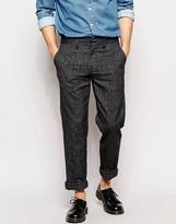 Farah Trousers With Fleck Slim Fit - Black