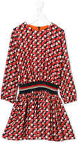 Paul Smith geometric pattern gathered dress