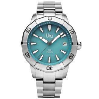 Bia Cordon Blue Women's Rosie Japanese Quartz Diving Watch with Stainless Steel Strap