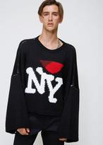 Raf Simons Black Oversized Jacquard Sweater