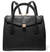 MICHAEL Michael Kors Mercer Convertible Textured-leather Backpack - Black