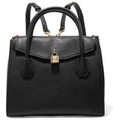 MICHAEL Michael Kors Mercer Convertible Textured-leather Backpack - Black