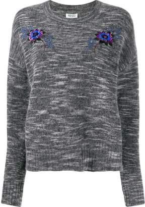 Kenzo sequin embroidered crew neck sweater