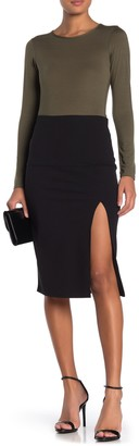 Socialite Side Slit Pull-On Skirt