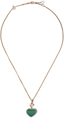 Chopard 18kt rose gold diamond Happy Hearts necklace
