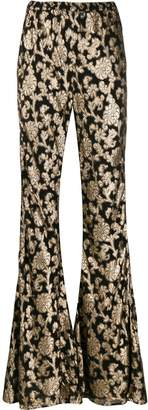 Mes Demoiselles floral print flared trousers