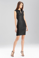 Josie Natori Lacquered Basket Weave Dress