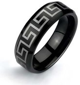 Bling Jewelry Greek Key Design Tungsten Ring 8mm