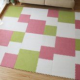 "yazi Puzzle Tiles Soft Flooring Mat for Children Multi Use White Color Tiles, 17"" x 17"" x 0.43"","