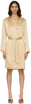 La Perla Beige Silk Short Robe