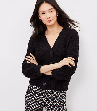 LOFT Textured V-Neck Cardigan