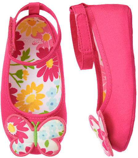 Gymboree Butterfly Crib Shoe