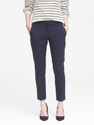 Banana Republic Petite Avery Straight-Fit Washable Wool Blend Pant