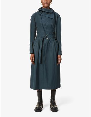 3.1 Phillip Lim Belted cotton-blend maxi shirt dress