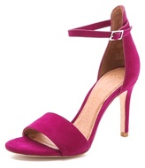 Jaclyn Ankle Strap Suede Sandals