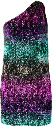 Amen One-Shoulder Sequin Degrade Dress