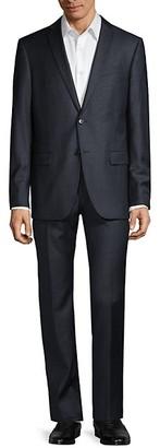 John Varvatos Bedford-Fit Tonal Check Wool Suit