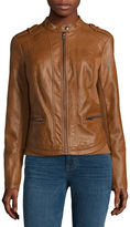 A.N.A a.n.a Faux-Leather Knit Coat