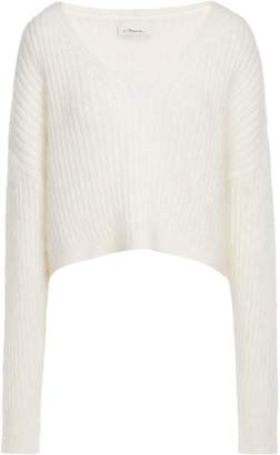 3.1 Phillip Lim Oversized Cropped Ribbed Wool-blend Sweater