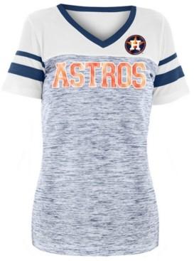 5th & Ocean Women's Houston Astros Space Dye Sequin T-Shirt