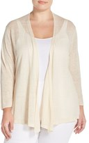 Nic+Zoe Plus Size Women's '4-Way' Three Quarter Sleeve Convertible Cardigan