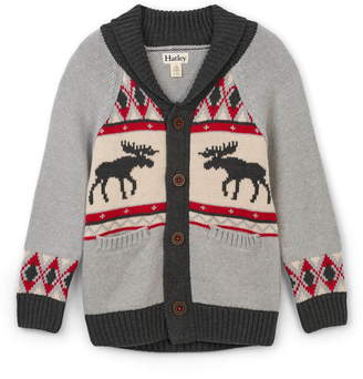 Hatley Moose Cabin Shawl Collar Cardigan