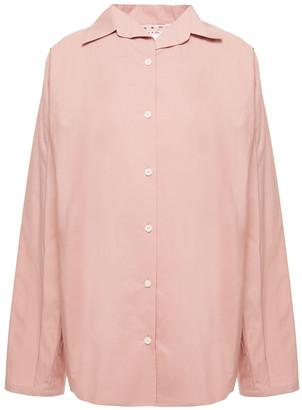Marni Oversized Pleated Cotton-poplin Shirt