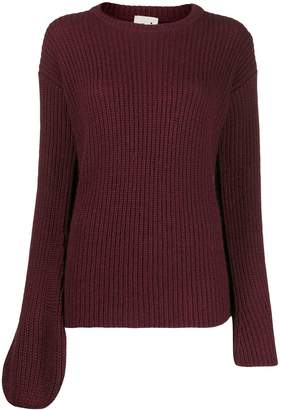 L'Autre Chose asymmetric sleeves jumper