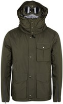 C.p. Company Dark Olive Quilted Field Jacket