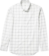 Folk - Storm Windowpane-checked Cotton-voile Shirt