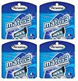 Personna Matrix3 Titanium Triple Blade Refill Cartridge Blades, 4 Ct. (Pack of 4) + FREE LA Cross Blemish Remover 74851