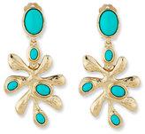 Oscar de la Renta Sea Tangle Cabochon Earrings