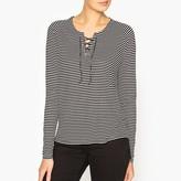 Ikks Breton T-Shirt with Lace-Up Neckline