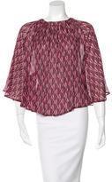 Dagmar Silk Printed Blouse