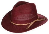 Women's Fedora Hat with Faux Leather Band