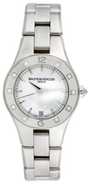 Baume & Mercier Vintage Stainless Steel, Mother of Pearl & 0.10 Total Ct. Diamond Linea Casual Style Watch, 32mm