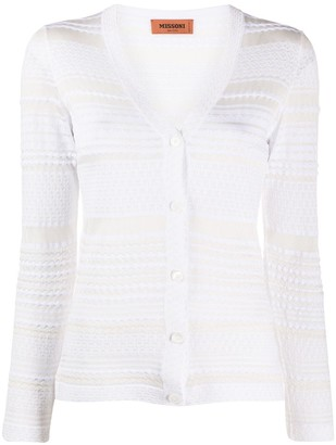 Missoni Striped-Pattern Buttoned Cardigan