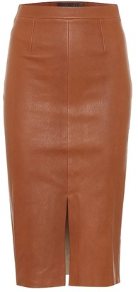 STOULS Carmen leather pencil skirt
