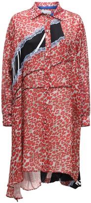 Koché Asymmetric Knee Length Shirt Dress