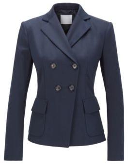 HUGO BOSS Slim Fit Jacket In Stretch Cotton Twill - Light Blue