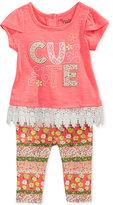 Nannette 2-Pc. Cute Lace-Trim Tunic & Capri Leggings Set, Baby Girls (0-24 months)
