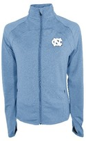 NCAA North Carolina Tar Heels Women's Synthetic Full Zip Activewear Sweatshirt