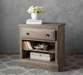 Pottery Barn Linden Wood Paneled Bedside Table