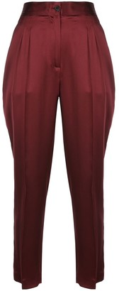 Nili Lotan Lia Mid Rise Front Pleat Pants