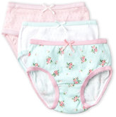 Rene Rofe Toddler Girls) 3-Pack Pointelle Knit Briefs