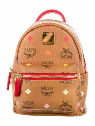 MCM Skyoptic Visetos Stark Bebe Boo Backpack w/ Tags Brown