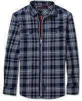 Sean John Long Sleeve Shirt, Zipped Check Flight